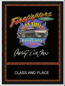 AWARDS -  Hot Rod and Morotorcyle 8x10 Color Decal and Engraved