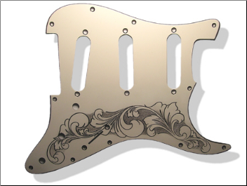 GUITAR PICK GUARD - Engraved