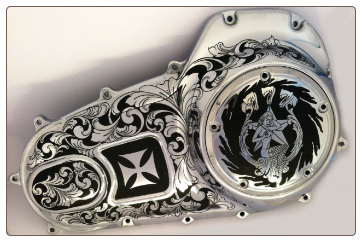 Black Box Dash Cam >> Motorcycle Engraving by Steel Tattoos, Engraved Motorcycle Parts, One of the first engravers to ...